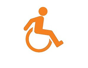 orange wheelchair icon